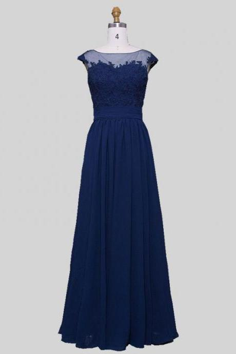 2017 A-line Sweetheart/Illusion Neck Sleeveless Simple Bridesmaid Dresses APD2617a