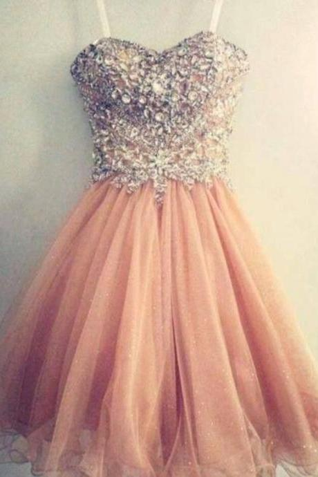 Sweetheart neck sparkly homecoming dresses,short prom dresses,sweet 16 dresses 1541