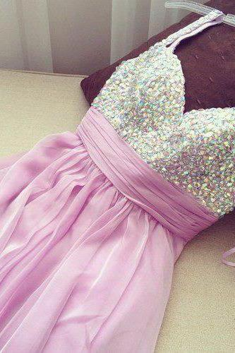 Beaded Bodice Homecoming Dresses with Spaghetti Strap,Short Prom Dresses,Lilac Sweet 16 Dresses 1545